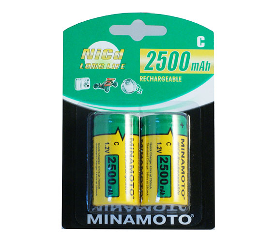 Minamoto C 2500mAh Ni-Cd 2/card