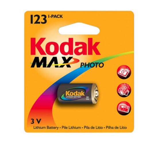 Kodak CR123 1/card