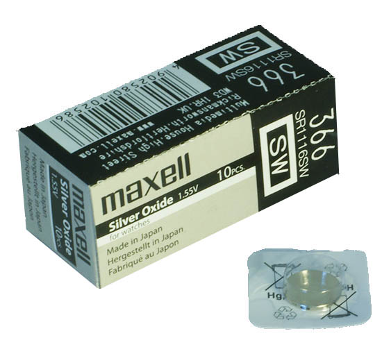 Maxell SR-1116SW 1/card 10/box