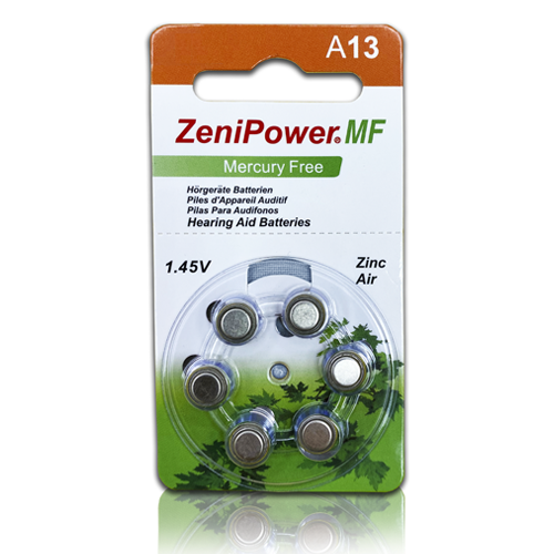 ZeniPower A13 (MF) 6/card