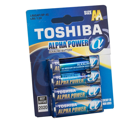 Toshiba LR6 ALPHA POWER 4/card